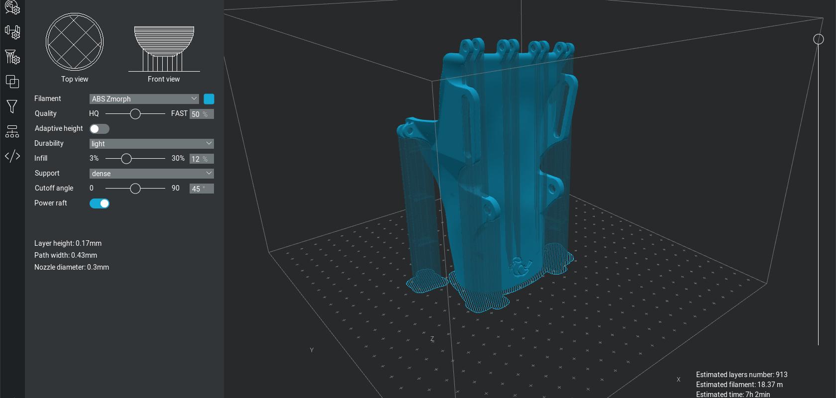 ZMorph 3D printed orthosis