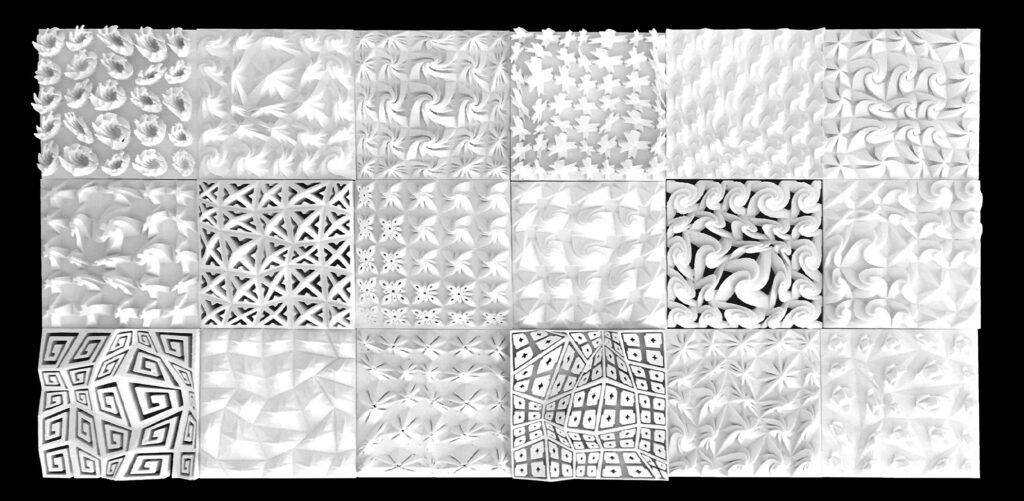 3D printed patterned landscapes