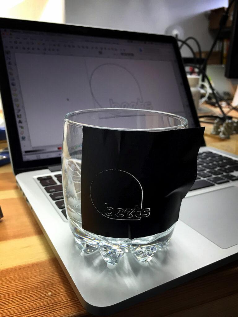 company drinking glasses