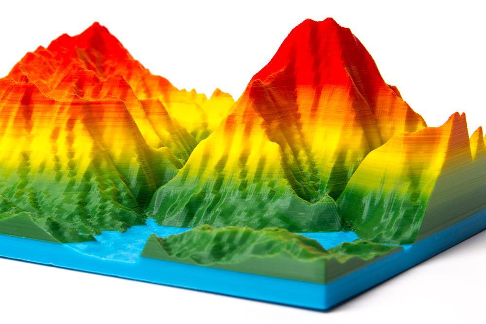 4-color mountain