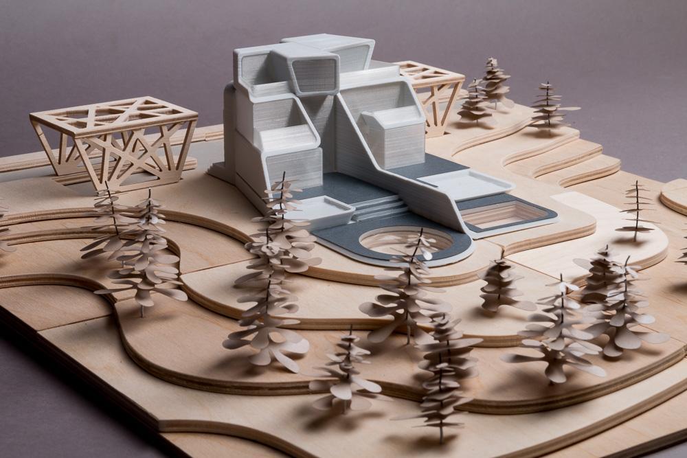 multi-material architectural model
