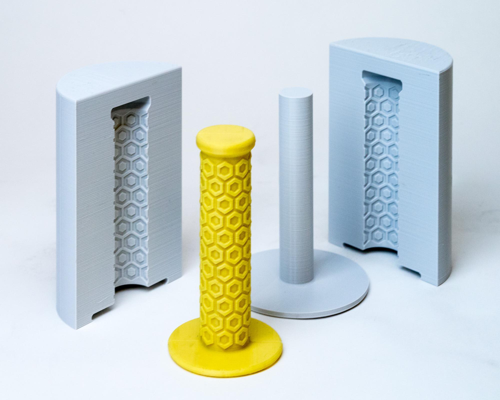 Bike handlegrip from 3D printed mold