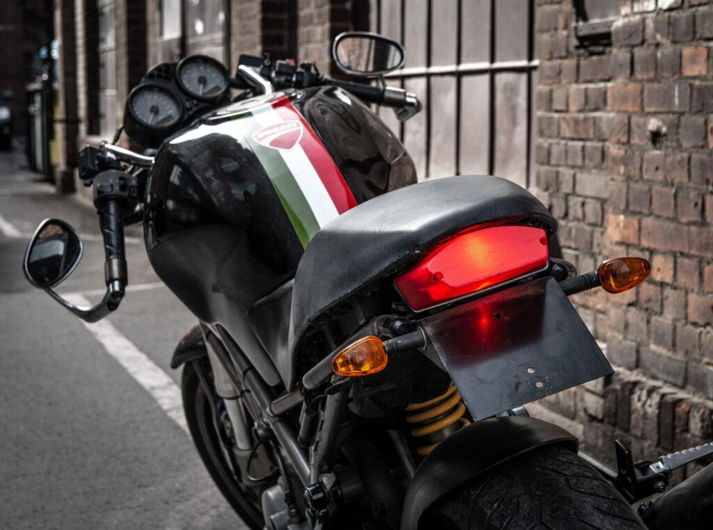 Motorcycle lamp made from PET-G