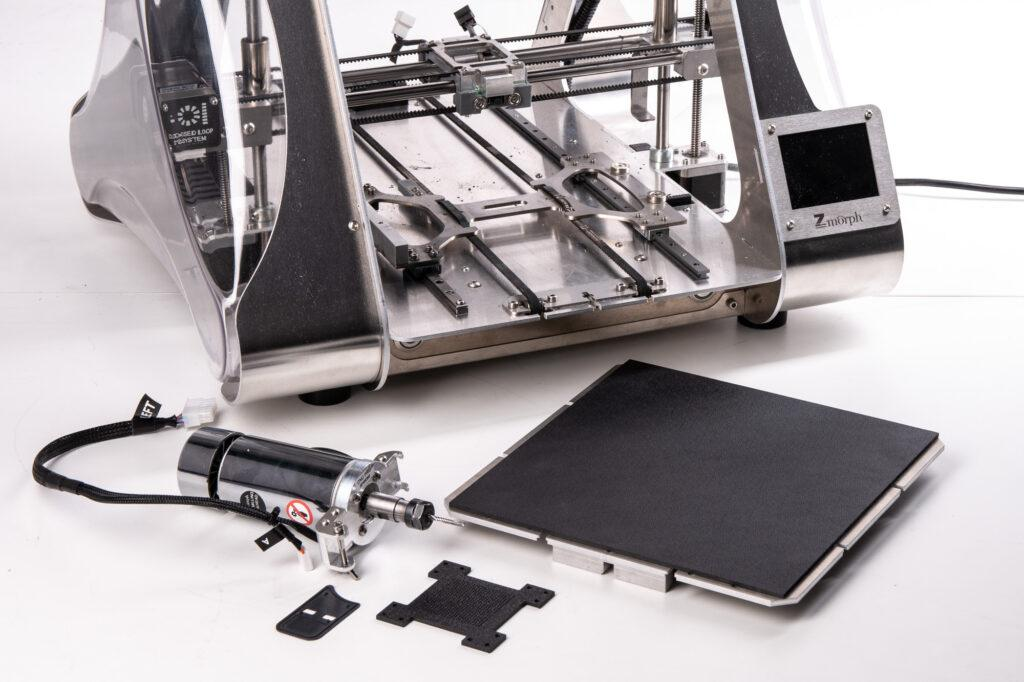 ZMorph VX Multitool 3D Printer, CNC PRO milling toolhead and ABS material