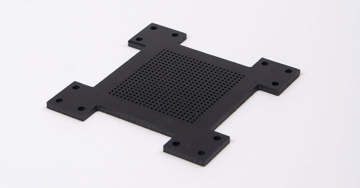 ABS CNC machined sample
