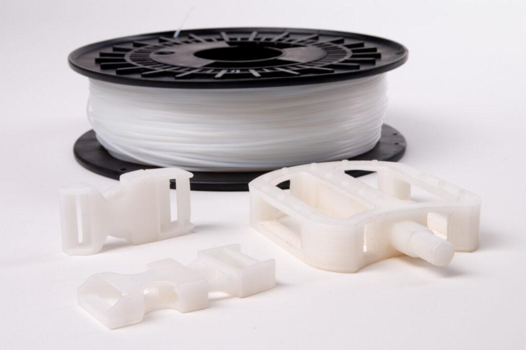 Nylon 3D printing filament, 3D printed nylon samples