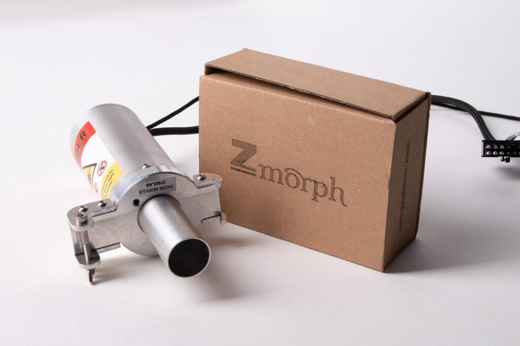 Laser engraved ZMorph logo on cardboard