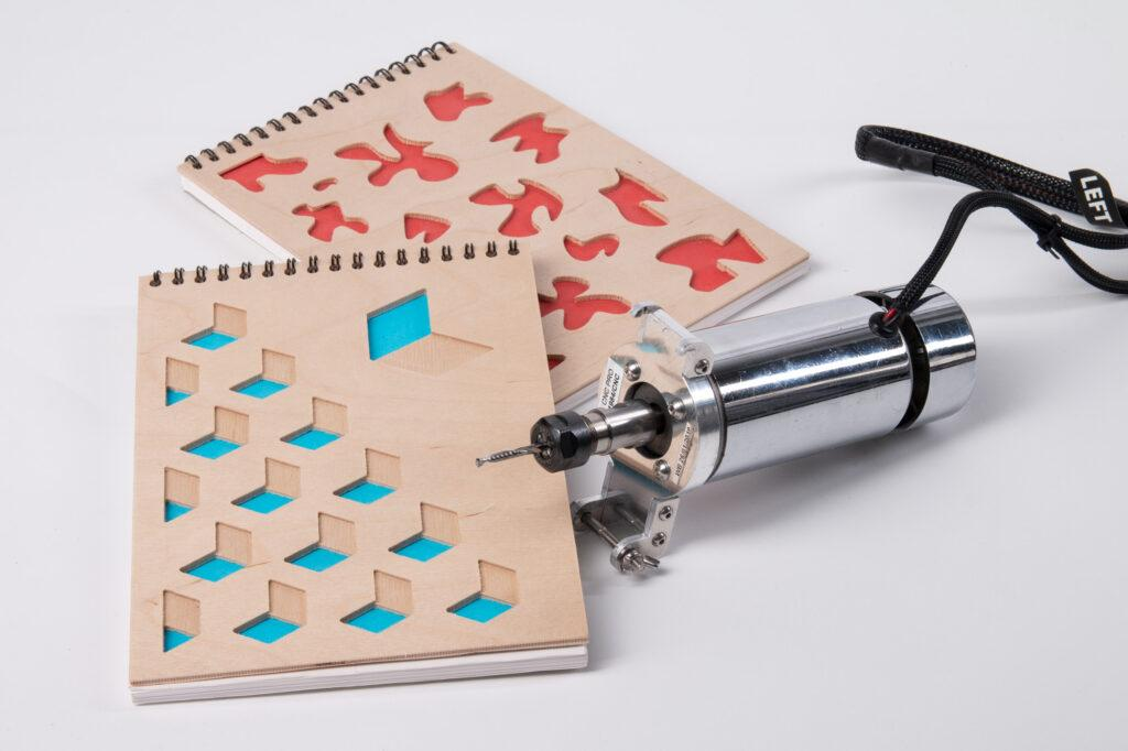 Plywood notebook cover and ZMorph CNC PRO toolhead