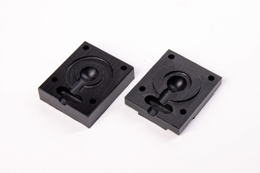 POM injection mold CNC machined with ZMorph VX.