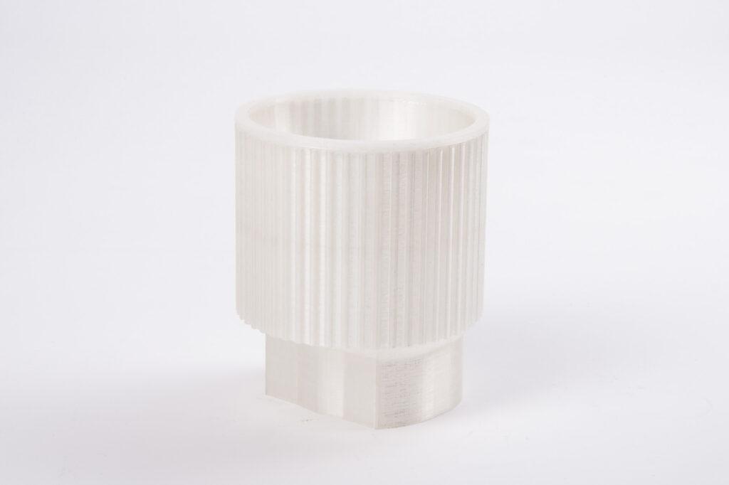3D printed PMMA light diffusor.