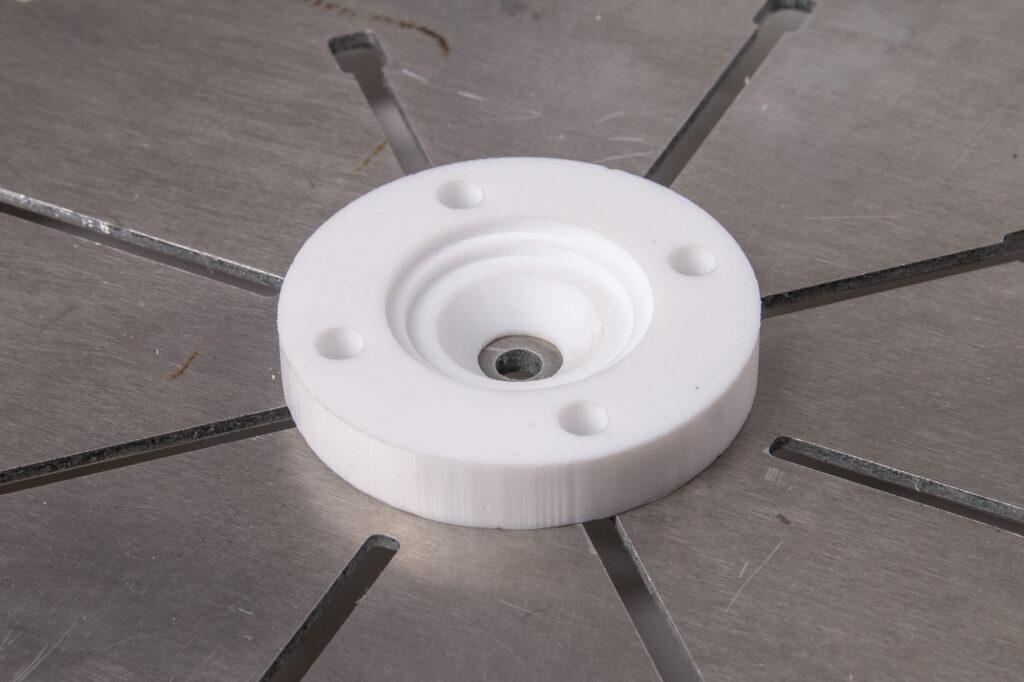 Teflon CNC milling.