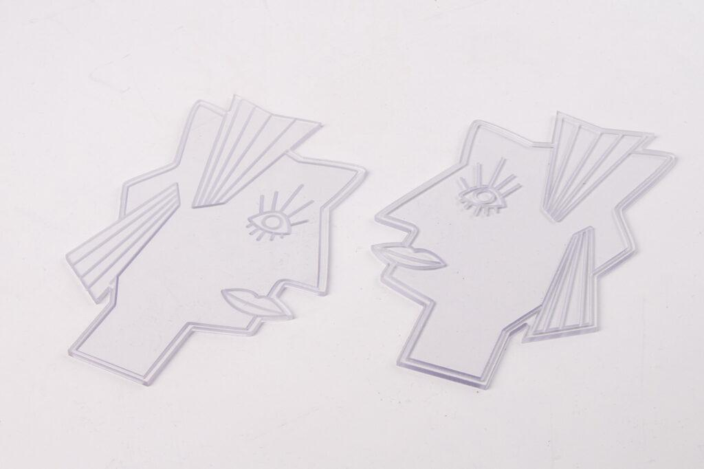 CNC machined polycarbonate.
