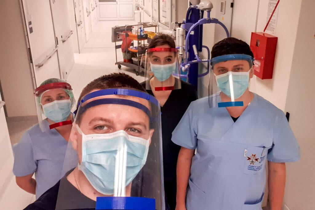 3D printing face protection against coronavirus.