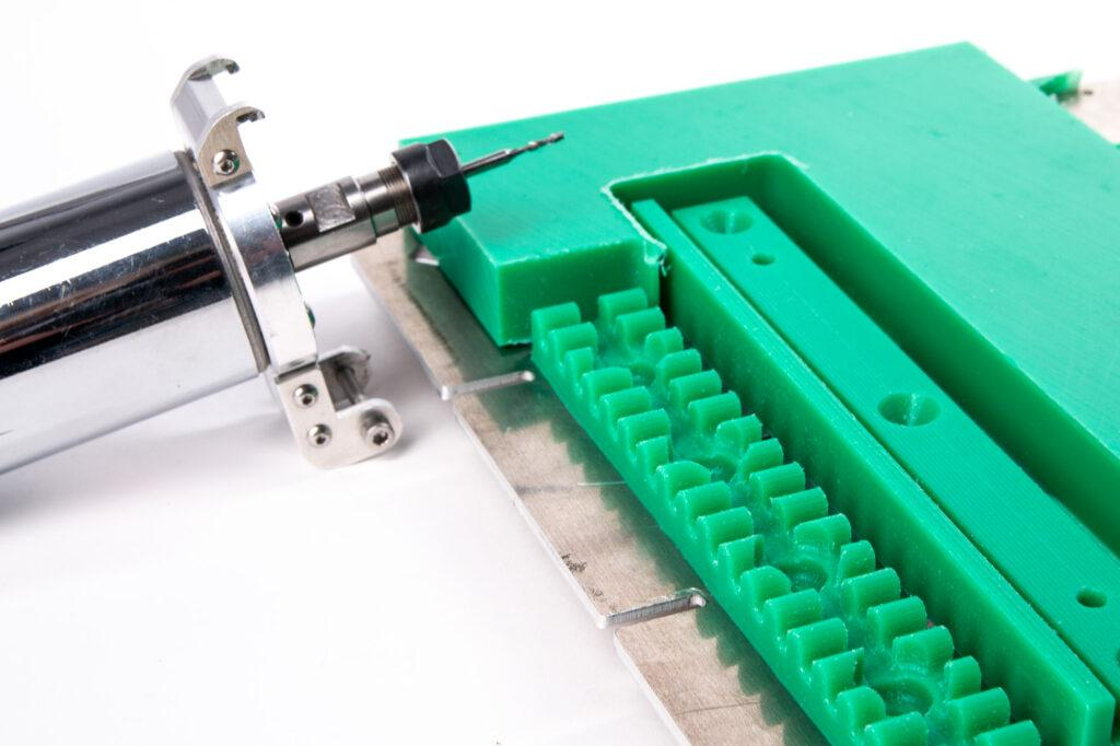 CNC milling in LDPE.