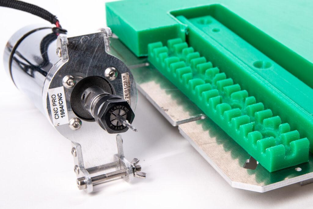 CNC milling LDPE.