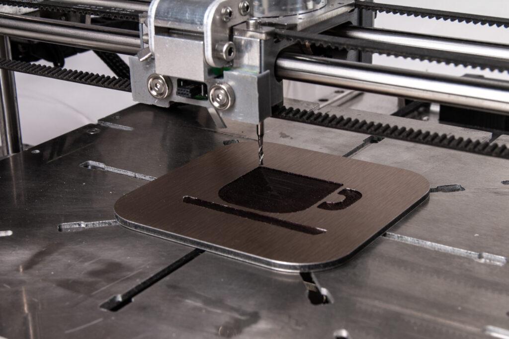 Dibond CNC milling.