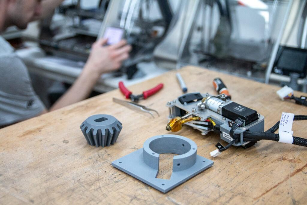 3D printed prototypes.