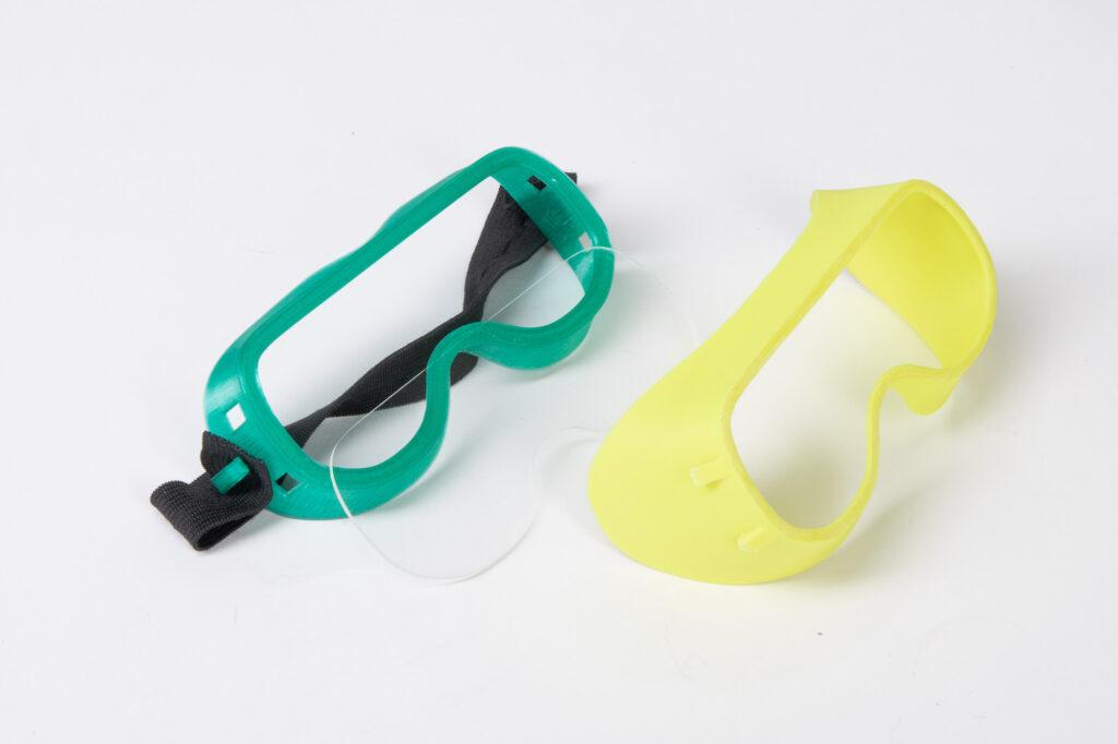 3D printed protective goggles.