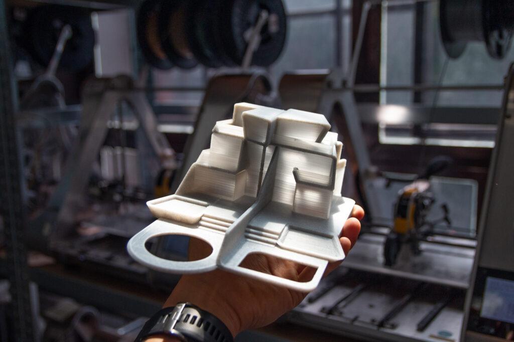 3D printed PLA.