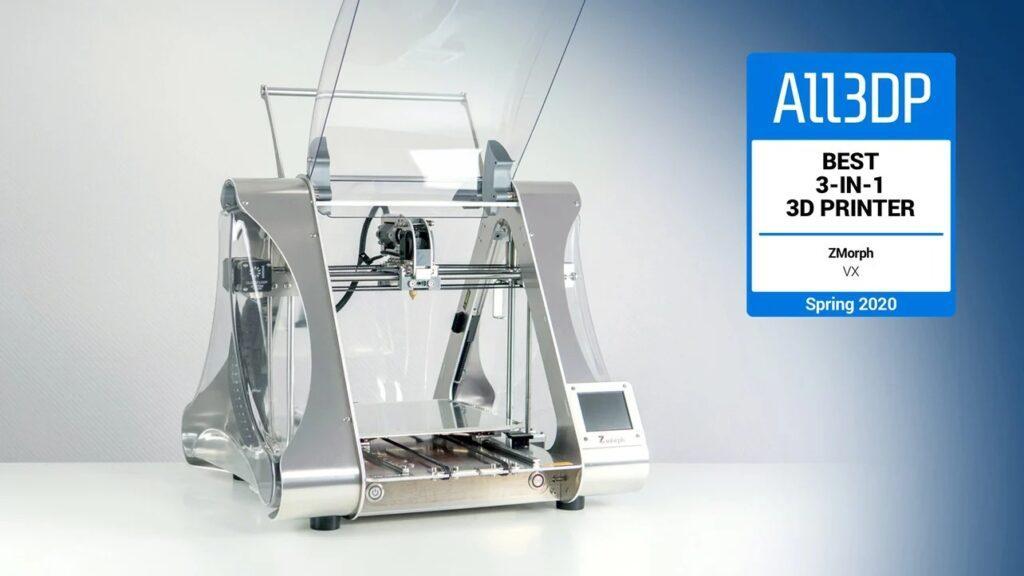 ZMorph VX, the best 3-in-1 3D printer of 2020.