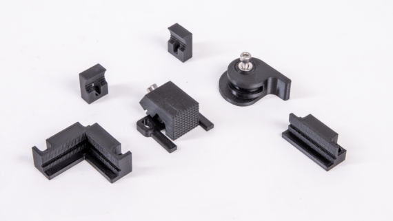 Various types of fixtures for CNC milling on Zmorph Fab.